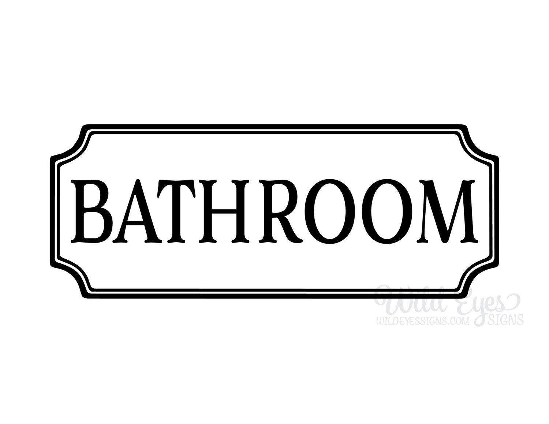 Bathroom Vinyl Decal Washroom Vinyl Decal Glass Door Decal - Bathroom vinyl decals