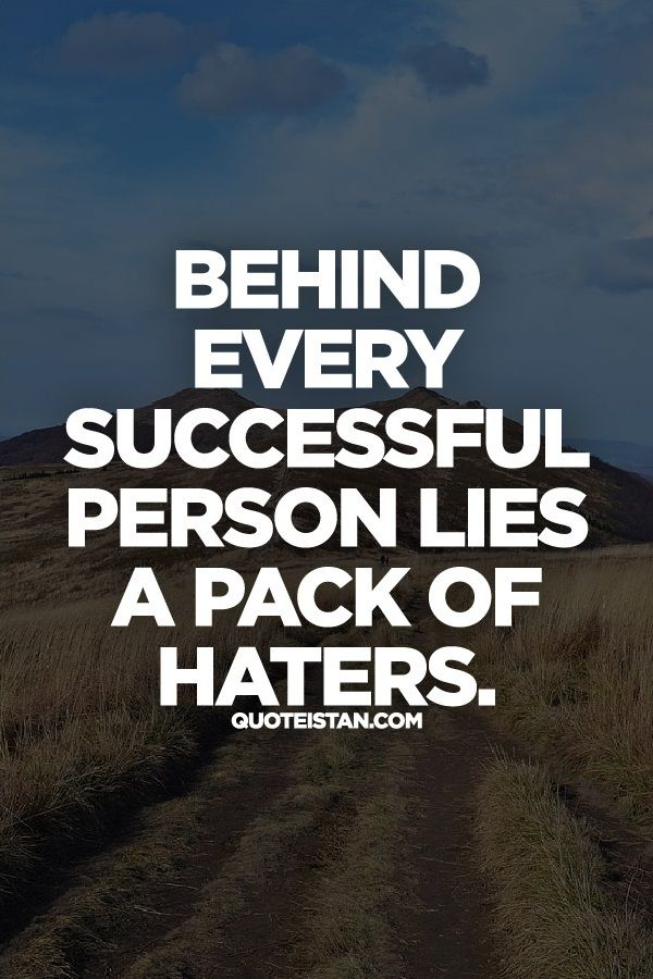 Behind Every Successful Person Lies A Pack Of Haters Success