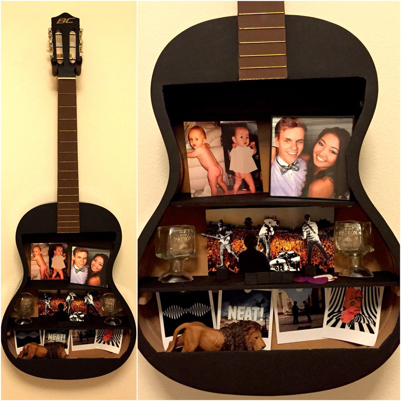 Boyfriend Musician Guy Diy Gift Guitar Shelf Diy Gifts