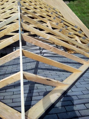 Gable roof addition tie in tying ideas for the house for Roof designs for additions