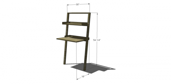 Free Diy Furniture Plans To Build A Land Of Nod Inspired Little Sloane Leaning Desk