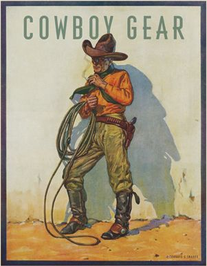 1930/'s Stetson Hats Promotional Advertising Poster