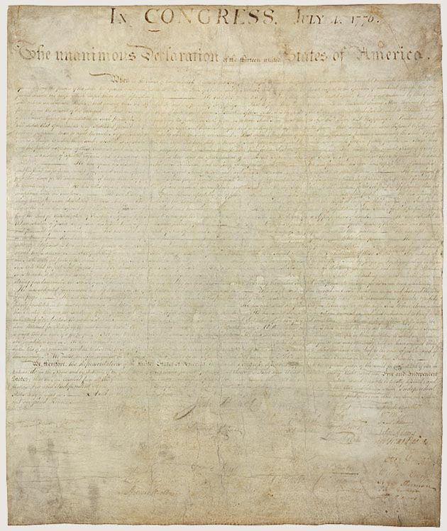 Declaration Of Independence A Transcription Pinterest