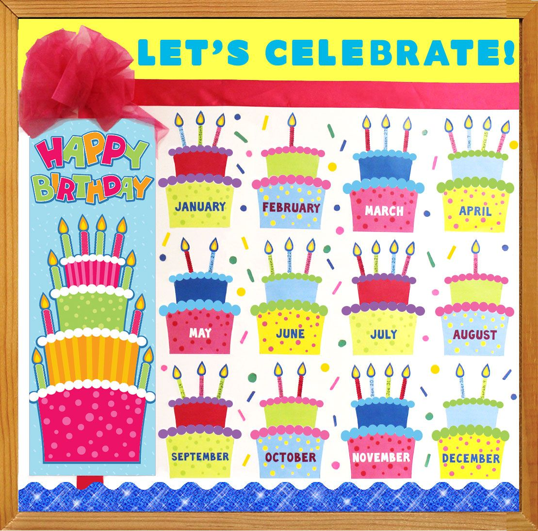Classroom Poster Ideas : Make a birthday bulletin board to celebrate all of your