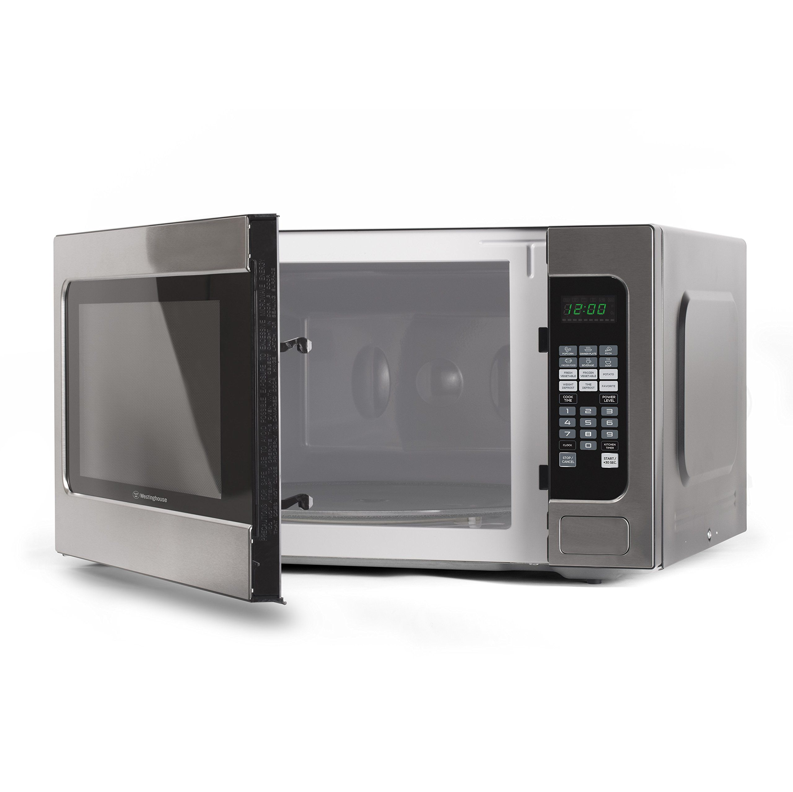 Shop Whirlpool 1 6 Cu Ft 1200 Watt Countertop Microwave Stainless Steel At Lowes Com Stainless Microwave Stainless Steel Countertops Countertop Microwave Oven