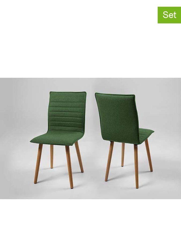 Esszimmerstühle Eiche esszimmerstühle karla in grün eiche b 44 x h 88 x t 55 5 cm