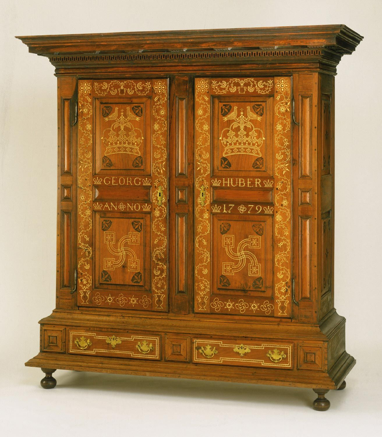 Wardrobe Kleiderschrank American Antiques Philadelphia Museum Of Art Pennsylvania German