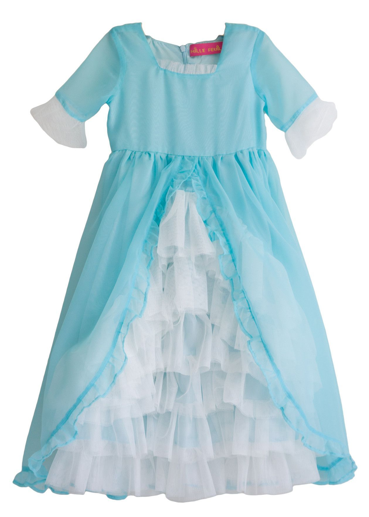 Madame Royale Vintage Style Flower Girl Dress Tiffany Blue