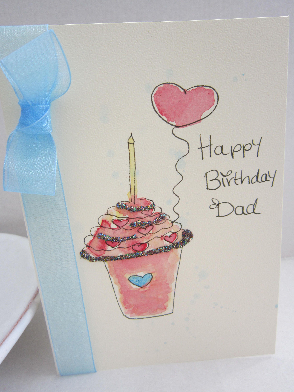 Dad Card Daddy Card Birthday Card Watercolour Card Daddy Etsy Happy Birthday Papa Dad Birthday Card Daddy Birthday Card