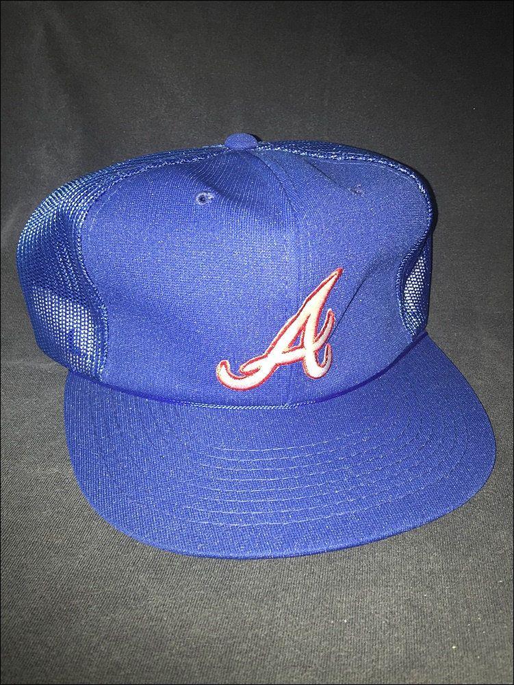 Vintage Deadstock 80 s MLB Atlanta Braves Mesh Trucker Snapback Hat Cap by  RackRaidersVtg on Etsy c1ccfe529348
