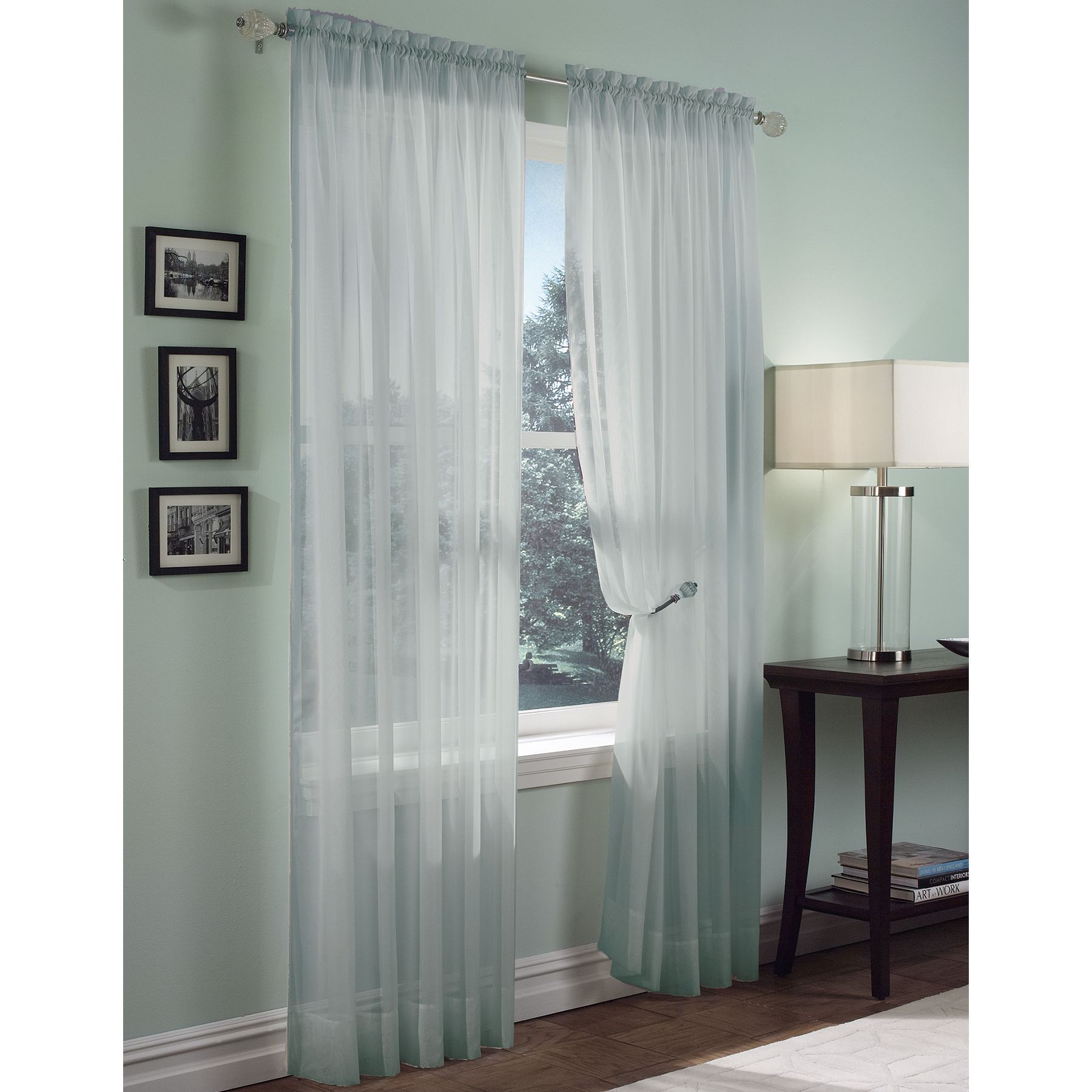 Colormate Sheer Voile Panel Blue Voile Panels Panel Curtains Home