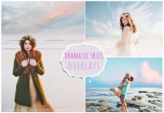 120 Sky and clouds Photoshop Overlays: Professional Photo Layer, Editing Background Backdrops for photographers, Photoshoot Enhancement Tool