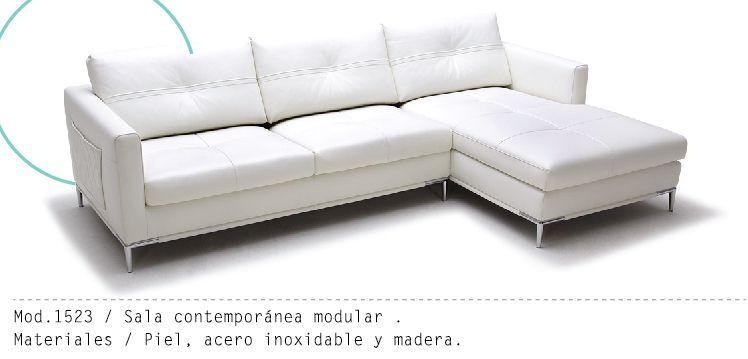Mueble Interior Mod 1523 #piel #muebles #sillon #salas #minimalista - mueble minimalista