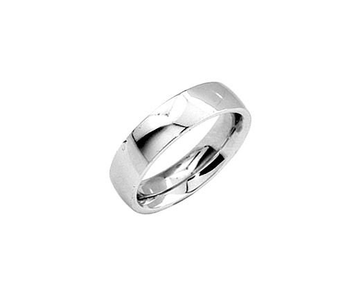 From The Love Story Collection Mens 14k White Gold Wedding Ring