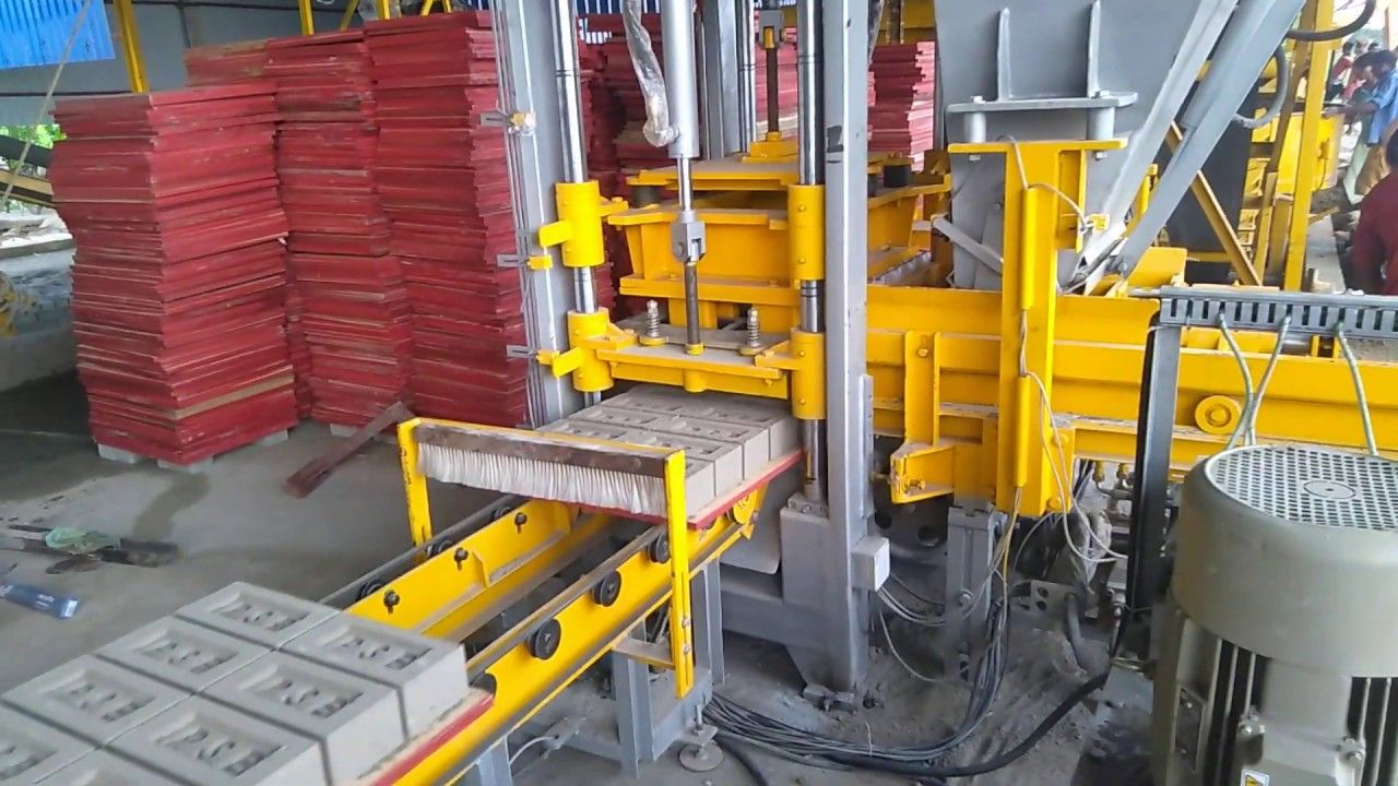 Fully Automatic Flyash Brick Making Plant Jayem 7550 At Odissa Brick Fly Ash Bricks Concrete Blocks