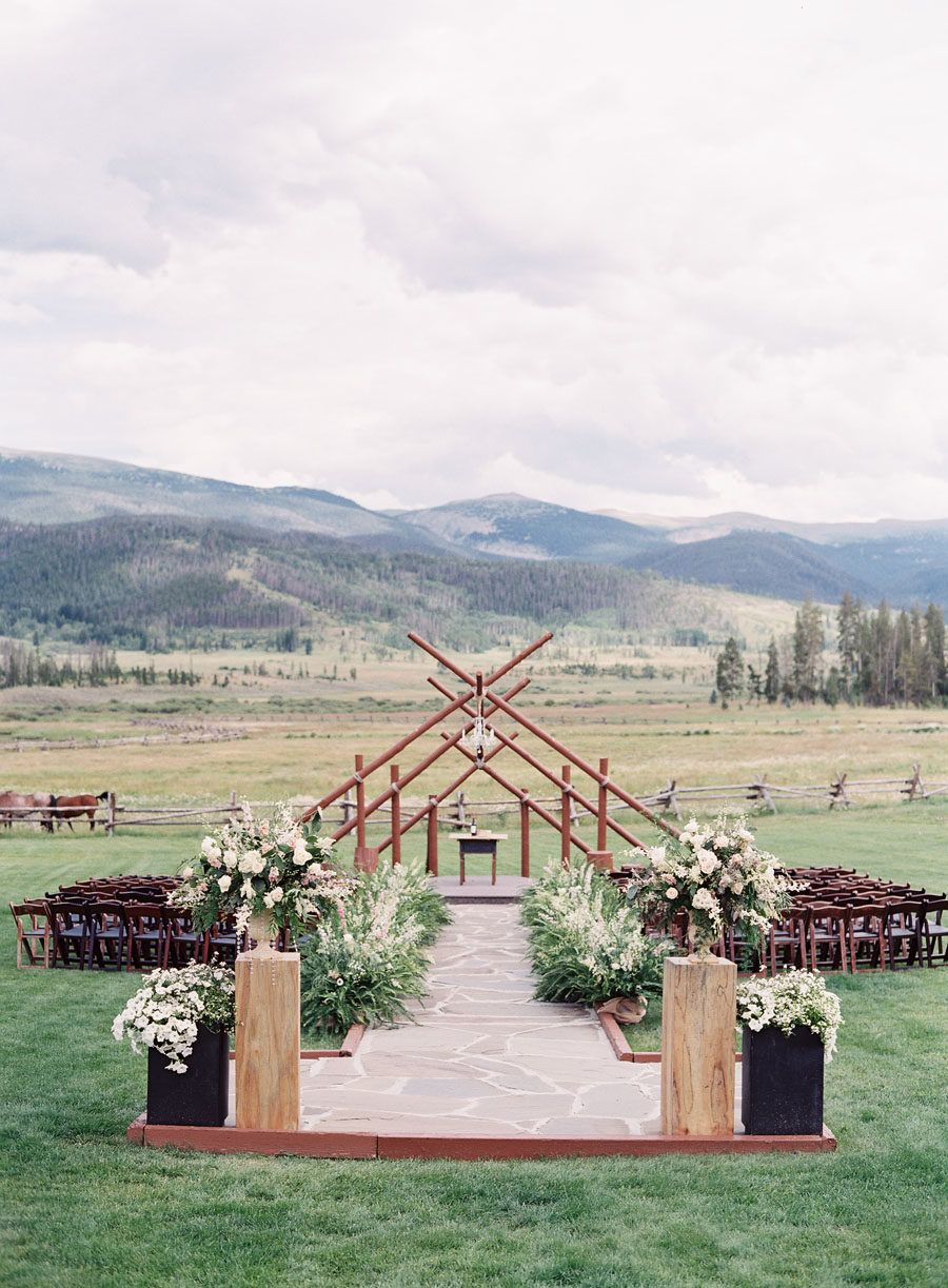 Rustic + Romantic Blush Colorado Ranch Wedding in 2019 ...
