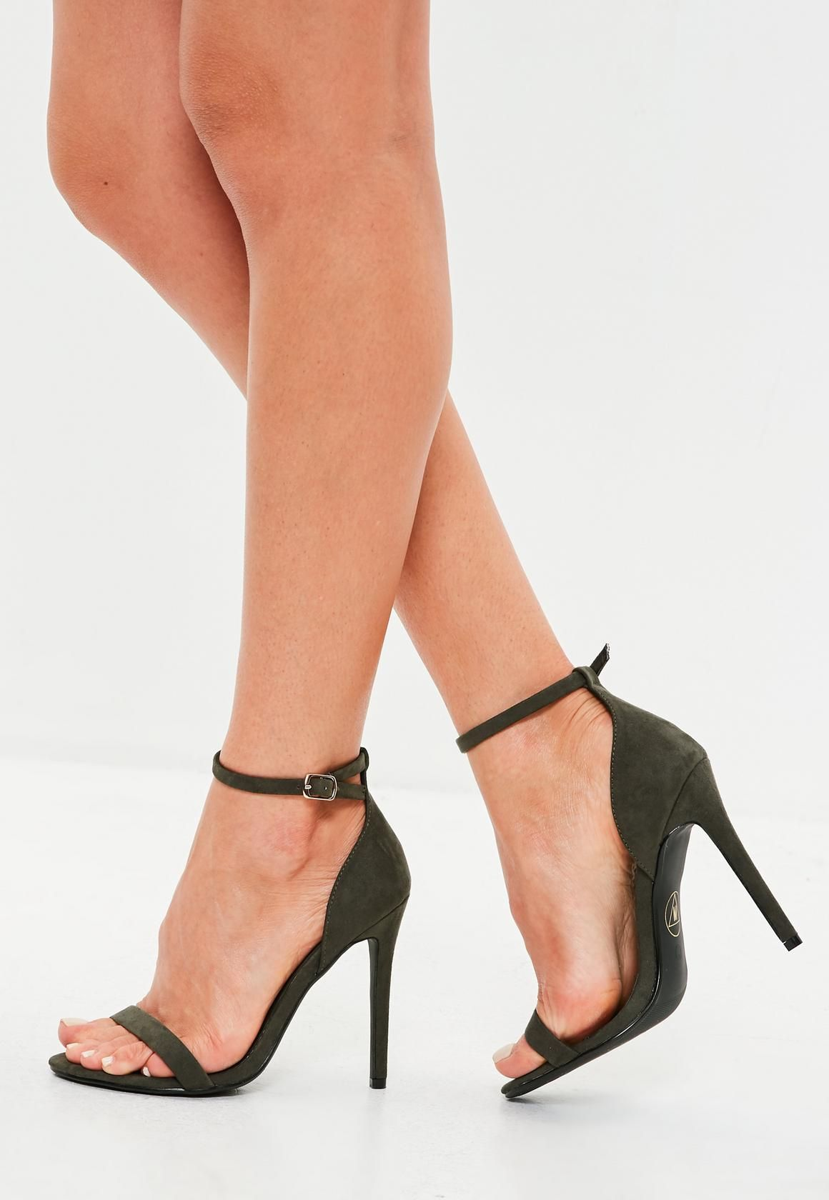 56f5c09ce9d ... shoes from Missguided. These barely there heels feature a khaki hue