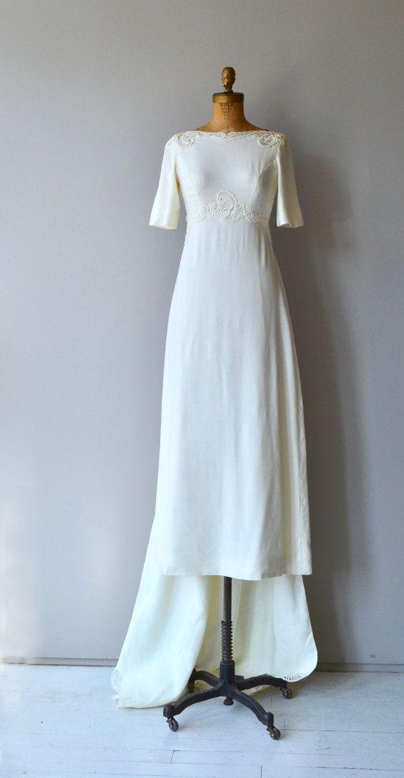 Avalon linen wedding gown vintage 1960s wedding dress | 오래된것3 ...
