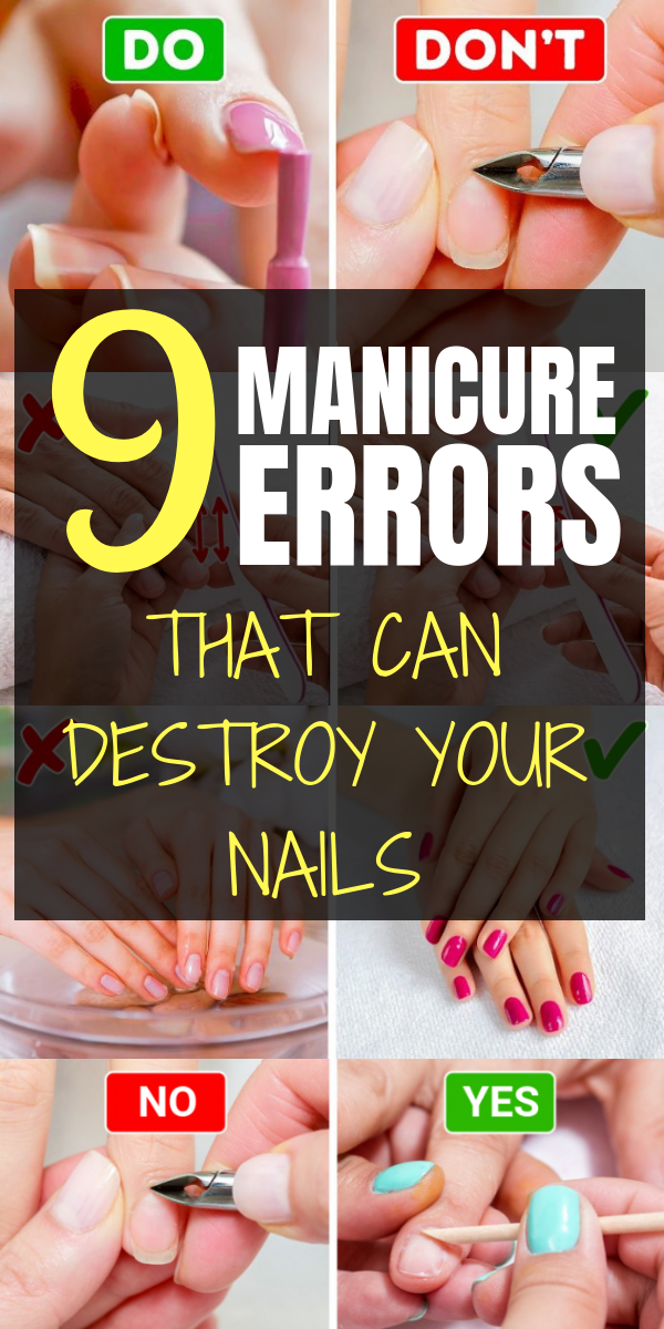 9 Manicure Errors That Can Destroy Your Nails is part of Prom nails Black Art Tutorials - According to recent study, on average a British woman spends about $500 a year doing nails  From nail health to the decoration and the art applied to them, all this became a fever in the social networks, causing millions of women to pay more attention to manicure and include nail care at her beauty routines  …