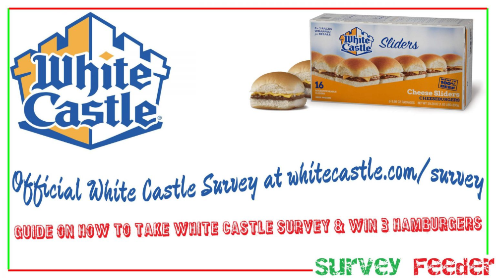 White Castle Survey For Free Hamburgers Surveys Free Slider Win Gift Card