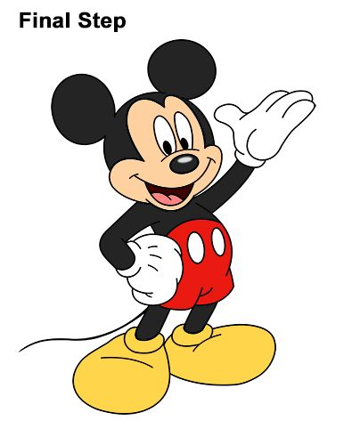 Mickey Mouse Pictures Drawing : mickey, mouse, pictures, drawing, Classic, Mickey, Mouse, Disney, Drawings,, Pictures,