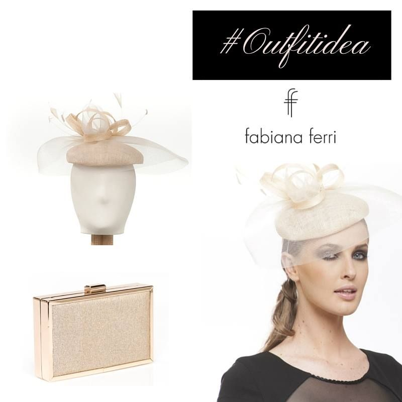 #OutfitIdea... Elegante e raffinato cappellino con motivo di fiocco, esalta qualsiasi acconciatura, abbinalo alla #clutch in materiale lurex color oro #collezione #FabianaFerri #ShoesandBags #woman #donna #donne #femminilita #fashionaddicted #moda #modadonna #abbigliamento #clothing #atelier #stile #style #look #outfit #eveninggown #eleganza #minidress #abitodasera