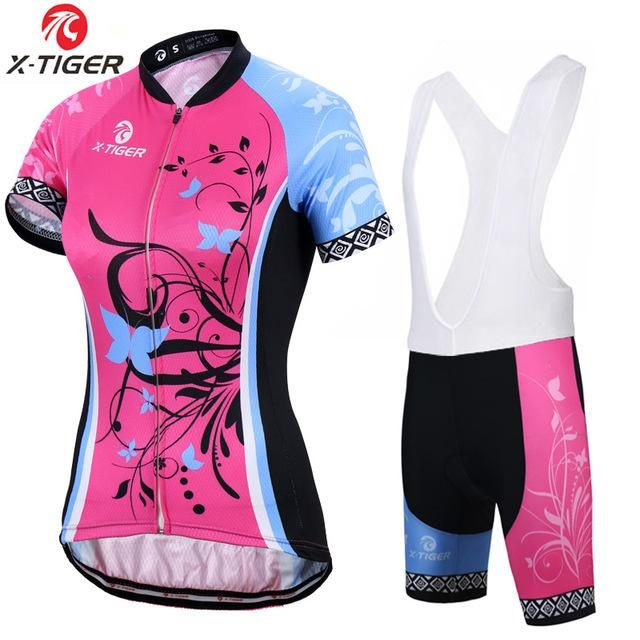 X-Tiger Short Sleeve Women Cycling Jerseys set Breathable Mountain Bike  Clothes Women Bicycle Cycling Clothing Ropa Ciclismo  jersey  maillot   ciclista ... b699b3e9f