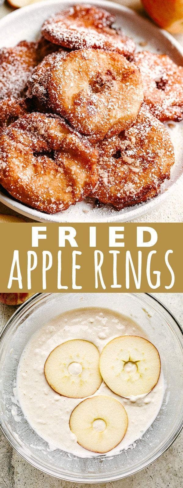 Apple Rings Recipe   Diethood #applerecipes
