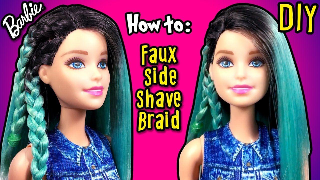 Diy How To Make Fake Half Shaved Hair Barbie Doll Barbie Hairstyles Barbie Hairstyle Half Shaved Hair Shaved Hair