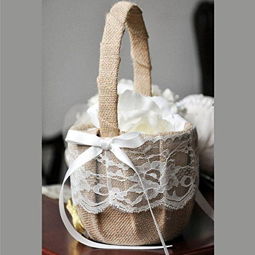 KINGSO Rustic Burlap Flower Basket Wedding Decor Party Fa... http://www.amazon.com/dp/B01DY7WRH4/ref=cm_sw_r_pi_dp_9tekxb0SV6V5C