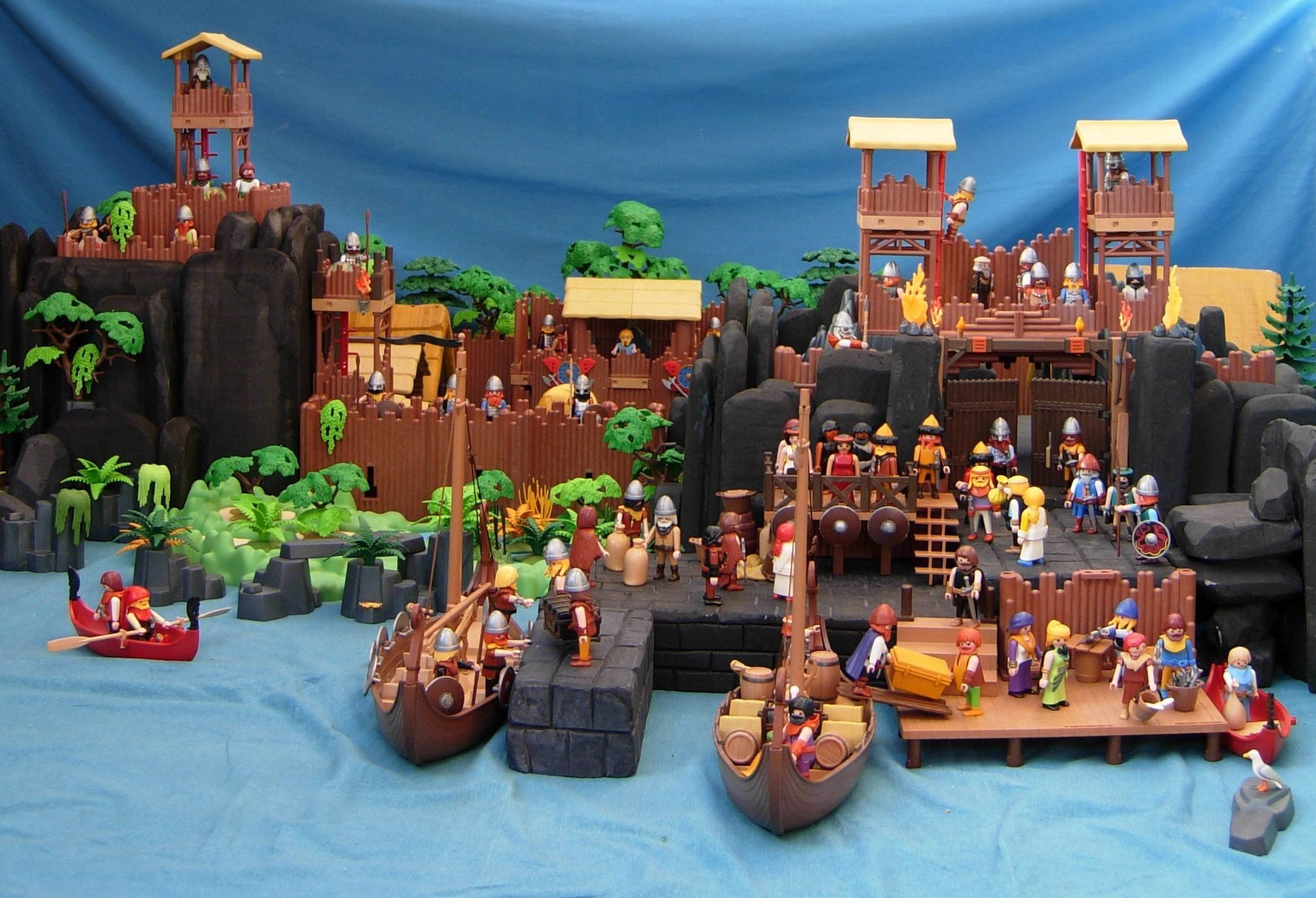 playmobil viking port  playmobil dioramen wikinger