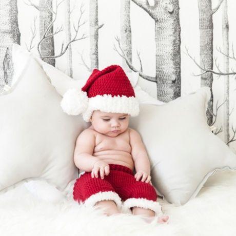 Disfraz de crochet Papa Noel para bebé Disfraz de croche hecho a mano para  recién nacido 462f3fd1bea