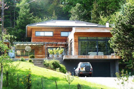 Maison en bois de cèdre Hanghaus Pinterest Maisons en bois de - Exemple De Facade De Maison