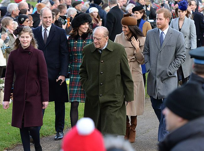 Kate Middleton, Prince William, Prince Harry and Meghan Markle go to church  in Sandringham on Christmas day