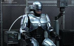 herói, cyborg, carregamento, robô, polícia, sessão, armadura, ferro