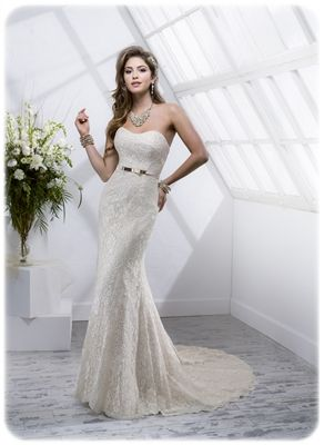 Maggie Sottero dress available at Bliss Bridal Centre.  www.blissweddingservices.co.uk