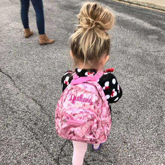 Monogrammed Toddler Baby Backpack - Mini Satin Microfiber Pink Ballet Dance  Napsack - Personalized with Embroidered Name or Initials c352f458a0314