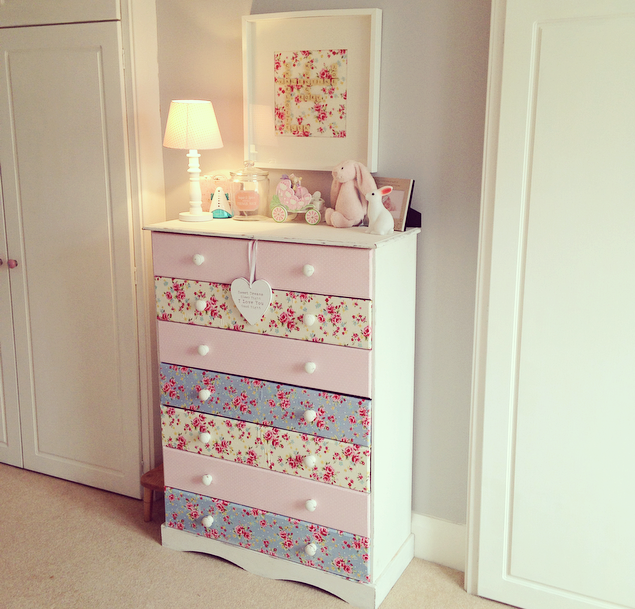 Pink Storage Bins Girls Flower Drawers Chest Dresser: The Home That Made Me: DIY Makeover