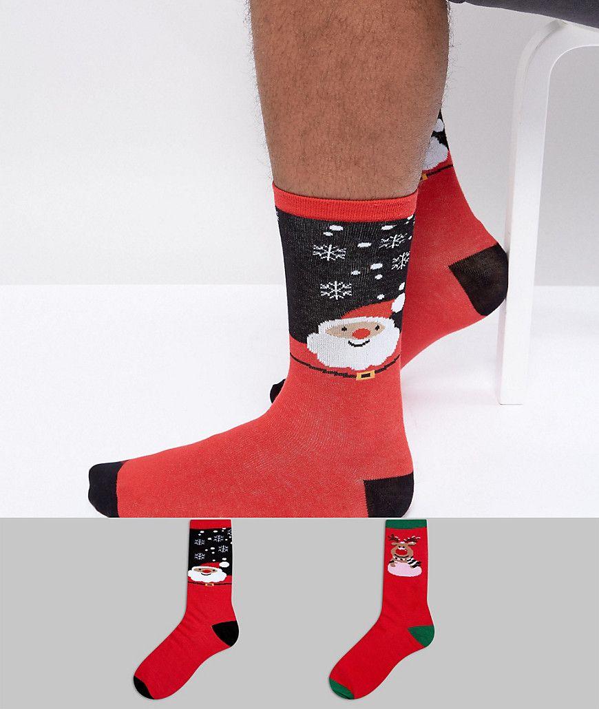 e14fd6a416 Get this Duke s basic socks now! Click for more details. Worldwide  shipping. Duke PLUS 2 Pack Christmas Sock Reindeer Snow - Multi  Socks pack  by Duke PLUS