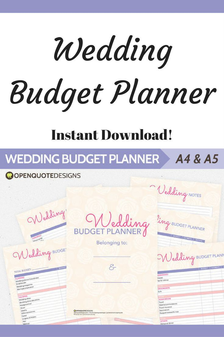 Wedding budget planners to help plan your expenses from the planning stage all the way to the honeymoon! #ad #budget #budgeting #wedding #weddingbudget #weddingbudgettip #weddingbudgeting #Printable #printableplanner #instantdownload