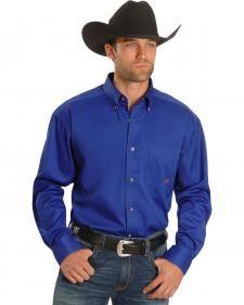 Ariat Blue Twill Oxford Shirt - Big & Tall