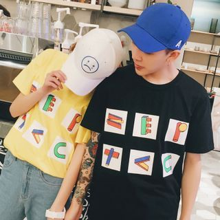 Simpair - Print Couple Matching Crewneck T-Shirt | Couple Fashion
