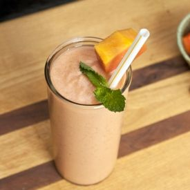 Stomach ache? Try this Papaya Ginger Smoothie recipe.