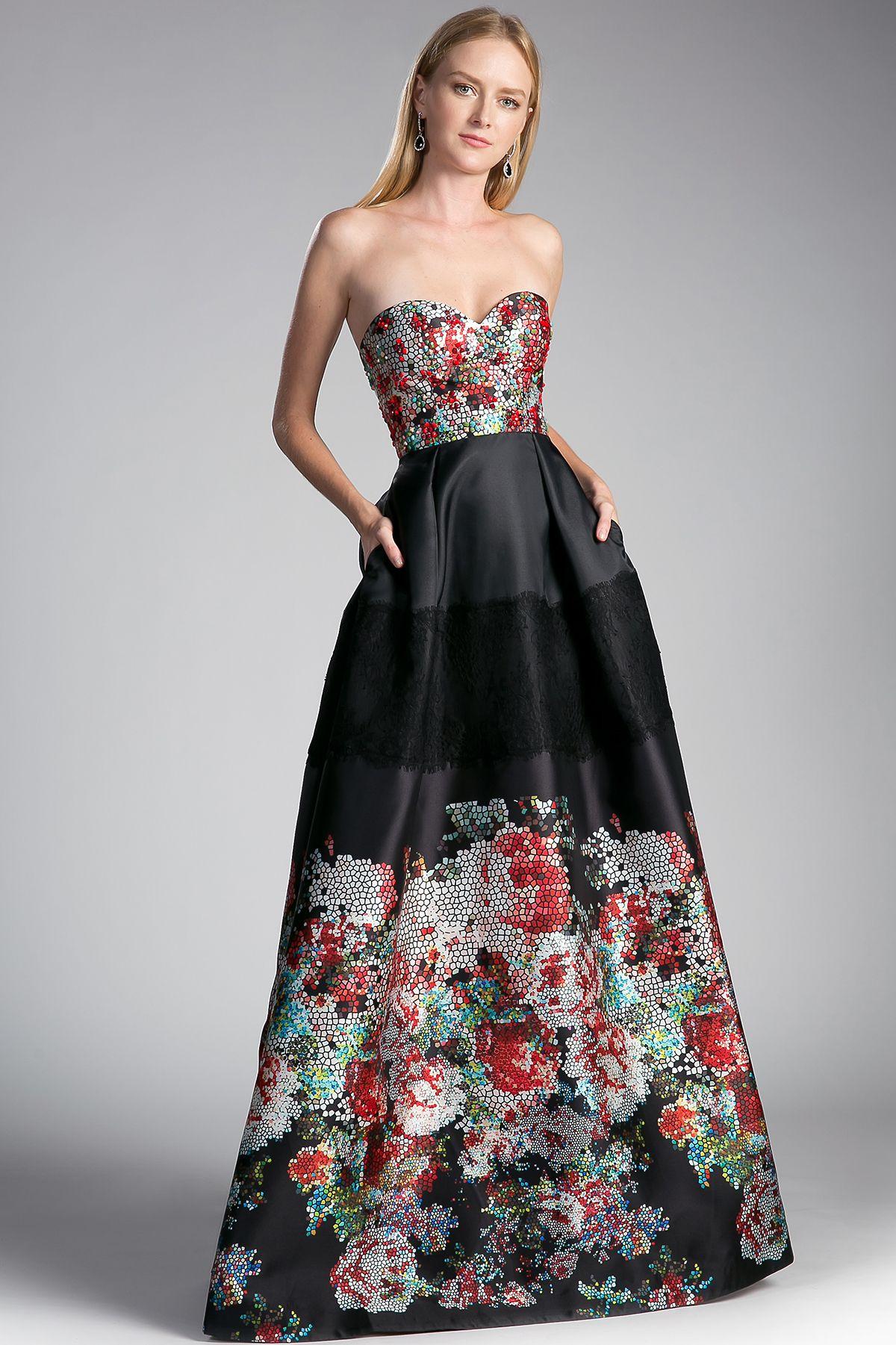 Elegant long dress has sweetheart neckline and open back it also