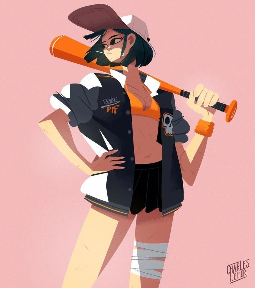 Baseball Girl 02 By Charles Lemor In 2019 Baseball Reference