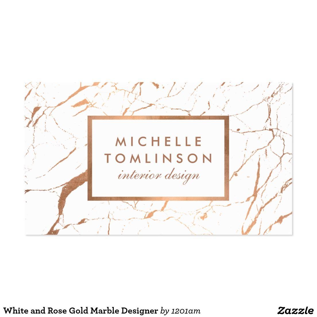 Profile card branding business card design gold - Creative names for interior design business ...