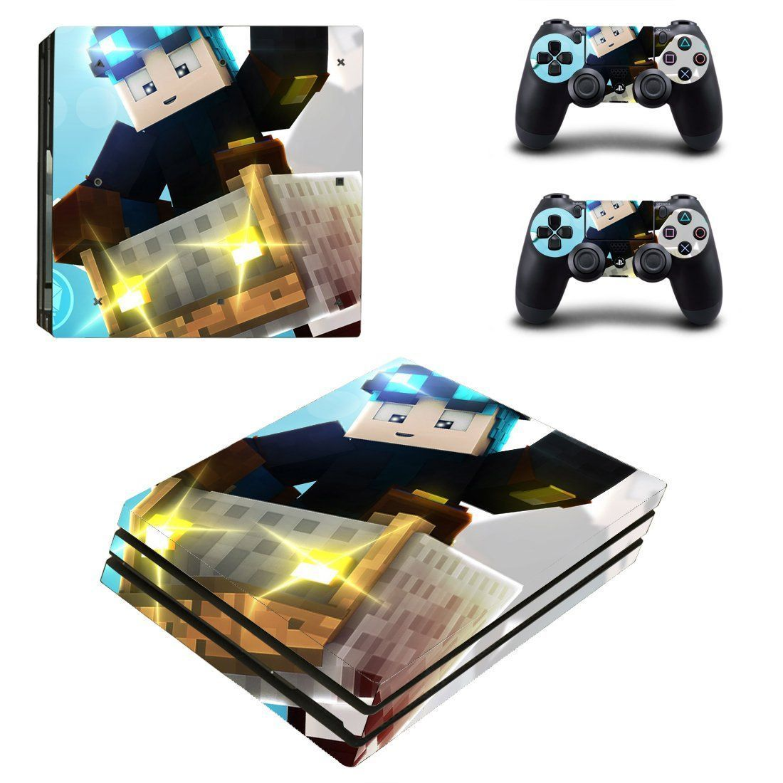 Minecraft Ps4 Pro Edition Skin Decal For Console And