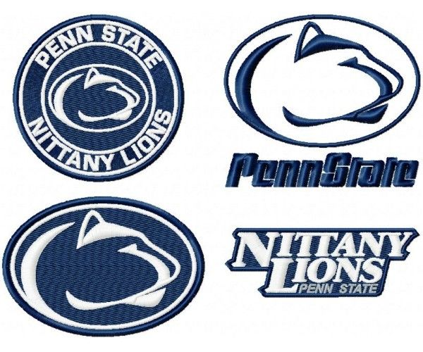 Penn State Nittany Lions Logo Machine Embroidery Design For Instant Download Penn State Crafts Machine Embroidery Designs Penn State Logo