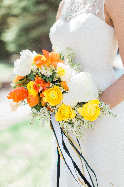 Vibrant Yellow Orange And White Bridal Bouquet Yellow Pinterest