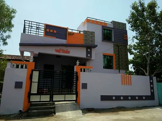 Pin By Shiva Krishna Chikkudu On 35x50 Houses Small House Elevation Design Village House Design Duplex House Design